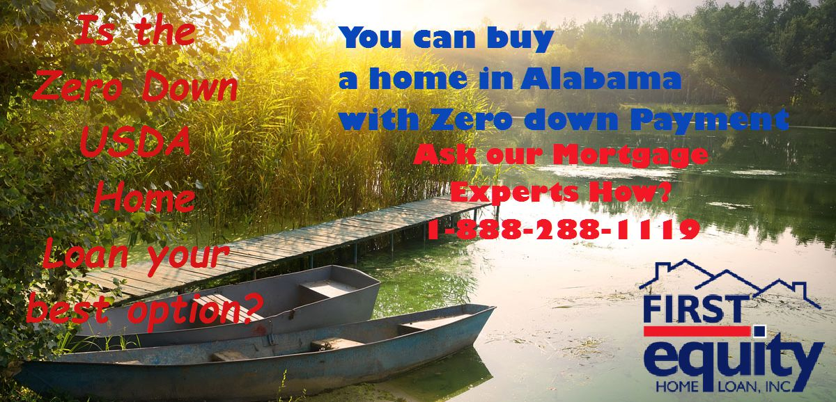 Usda zero down purchase mortgage first equity home loan for Usda rural development alabama